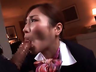 Enticing Asian Stewardess, Akari Asahina Gives Amazing Head