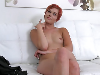 Horny waitress sucks and fucks in casting interview