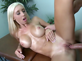 Busty Jessica Goes For The Masseur's Cock