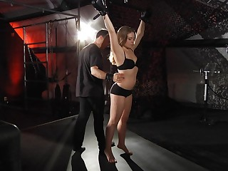 Newbie young babe faces bdsm terror