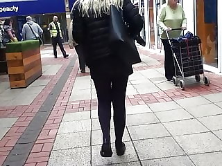 Blonde Babe Legs In Stockings.