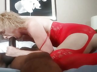 Blonde Mother Lusts Over Big Black Cock Creampie. Mature