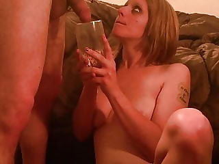 Amateur Teen Drinking Piss from a Glass with a Straw - Pornh