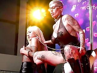 MyDirtyHobby - Blonde lesbian busty German MILFS in public