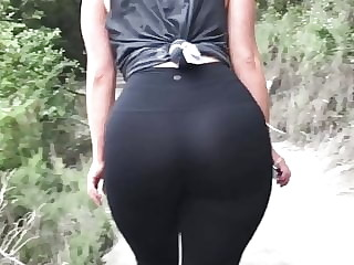 Perfect PAWG ass hiking