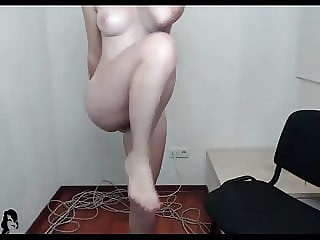 Box room girl exercises