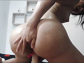 Big fake ass implants on dildo fucking squirt pussy Latina