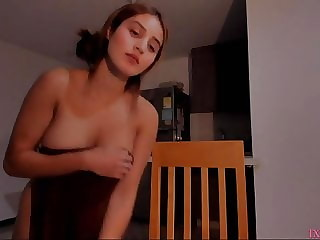 Shy girl undress and show big ass on cam p6