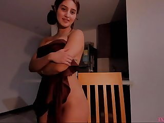Shy girl undress and show big ass on cam p4