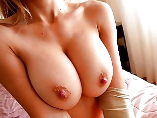 Perfect Busty Blonde Babe Has Round Ass and Puffy Cameltoe