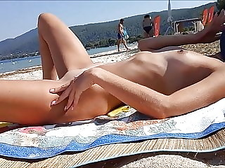 Wife having fun at the beach - Part 2