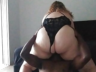 BBW lingerie face ride smother BBW big ass worship BBC PAWG