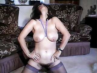 Vintage British big tits, very hairy pussy