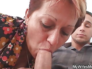 Old mother inlaw begging fuck her from behind