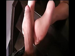 Sexy Rachel Wanted Her Shiny Pantyhose Cum Blasted