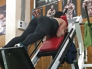 Hot caucasian booty squat gym love kavkaz whore sexy big ass