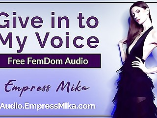 Give in to My Voice (Free Erotic FemDom Hypnosis Audio MP3)