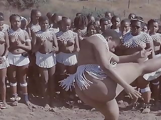 African tribal culture. Cute girl Big natural fat Ass. Woow