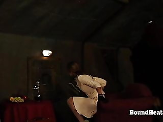 Betrayed Cargo: Hands In Ropes And Whip Smashing Her Back
