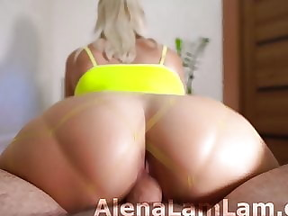 Amateur Cowgirl Huge Cock and Cumshot on Big Butt