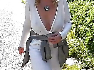 Macedonian  Milf is showing her tits part 2