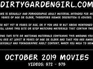 Dirtygardengirl OCTOBER 2019 NEWS fisting prolapse giant toy