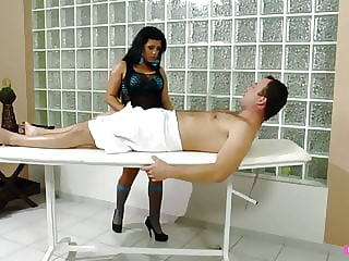 He Payed for a massage but this slut wanted his cock