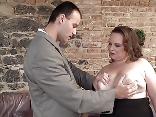 Son fucks big busty mature mother