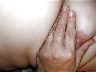 Homemade Granny tits and nipples - moaning