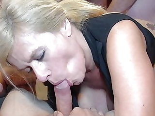 Hot slut with piercings wants gangbang