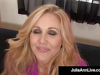 Mesmerizing Mommy Julia Ann Spews Cum On Feet After Blowjob!