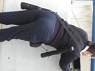 Sexy ass parking authority lady ass.