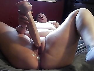 Holy shit!! BBW Plows herself to a THICK creamy cum