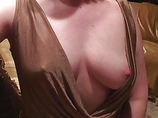 Deliciously slutty blonde shows her perfect perky tits