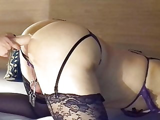 Playing with a hot and horny sissy