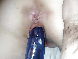 My wife with big dildo in her pussy