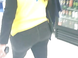 Cougar Bubblebutt Thick Walmart employee walking