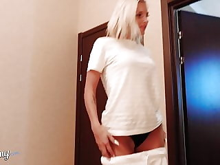 Young Teen Sucking Cock Lover after Work POV