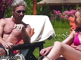 DPFanatics Sunny Day Step-Sister Gets 2 Cocks Outdoors