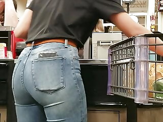 Candid Clerk Ass