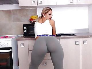 girl teasing with hot legging
