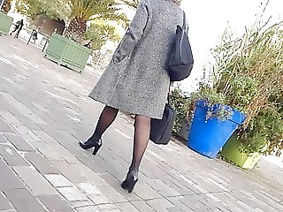 Sexy legs and heels with pantyhose