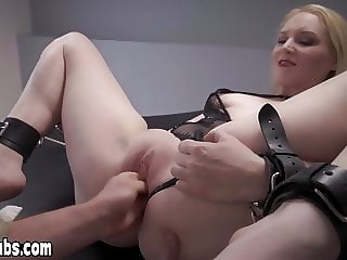 Stunning slave slut fisted on the piano by her master