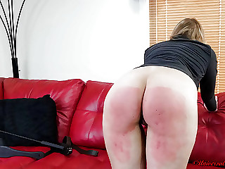 Cropping Her Bare Ass! - (Spanking)