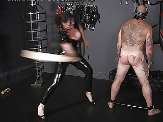 Femdom Spanking and Ballbusting with Baroness Essex