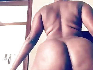 My African Colleague twerked naked for me