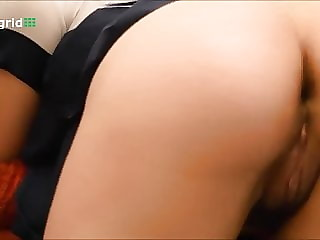 Cute girl spreading her arse and farting