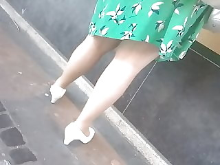 Sexy legs and vintage heels
