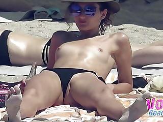 Voyeur Beach Hot Topless Teens Group Hidden Cam Video