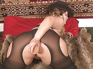 Cow girl farting and talking dirty